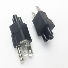 NEMA 5-15P USA Power Cable Plug to IEC C5 Receptacle Power Cable PlugAdapter Pop