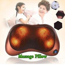 Electronic Kneading Pillow Massager Shiatsu Car Neck Back Shoulder Heat Massage