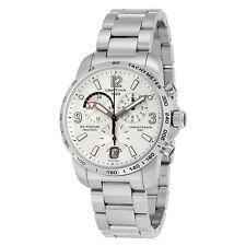 Certina DS Podium GMT Silver Dial Stainless Steel Mens Quartz Watch