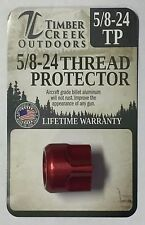 TIMBER CREEK 5/8-24 MUZZLE THREAD PROTECTOR .308 / 7.62  - ANODIZED RED
