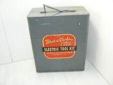 EMPTY GUC Vintage Black & Decker Electric Home Utility Metal Tool Box Kit Case