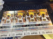 2016 WARRIORS PLAYOFFS SEASON TICKET STUB SET CAVALIERS FINALS GAME 7 INCLUDED