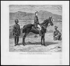 1879 antica stampa-IL TENENTE Hamilton Afghanistan Kabul massacro (43)
