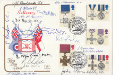 FDC's 1990 Gallantry FDC Signed by15,  3 Victoria Cross Holders,7 GC, 2DFC 2DSO,
