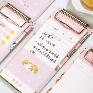 """""""Pink Memo"""" Student Pocket Notepads Removable Tear off Paper Study Notes Papers"""
