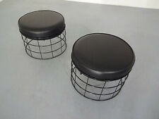 T1 Plus Wireframe Stools (2) by Verner Panton for Plus-Linje