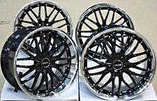 "18"" CRUIZE 190 ALLOY WHEELS BLACK & POLISHED DEEP DISH STAGGERED 18 INCH ALLOYS"