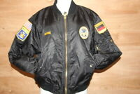 Basic Bomber Jacket size SMALL Military Patches P.O.W. Black Street Wear
