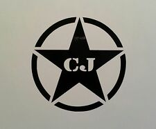 ARMY STAR  ** 4 WHEEL DRIVE ** DECAL ** JEEP CJ-5 CJ-7 YJ TJ  4X4 WRANGLER