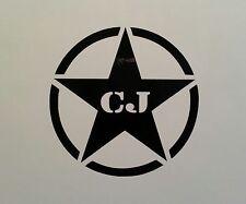 ARMY STAR  ** 4 WHEEL DRIVE ** DECAL ** JEEP CJ-5 CJ-7 YJ TJ JK 4X4 WRANGLER