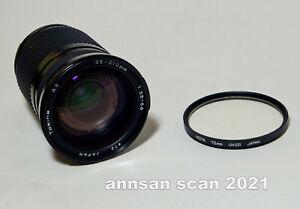 Tokina AF 28-210 zoom lens for Nikon 35 mm camera 1:35-5.6 & Hoya 72mm UV filter