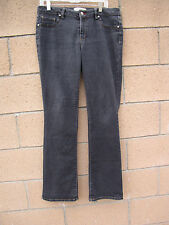 Womens D Jeans Faded Black Stretch Jeans 10 Cotton Polyester Spandex Blend