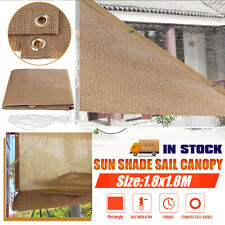 1.8M Outdoor Sun Shade Sail Awning Canopy Garden Patio Sunscreen 95% UV Block