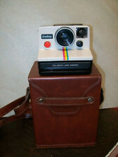 VINTAGE RETRO POLAROID SX-70 ONE STEP  LAND CAMERA  WITH FLASH AND CASE