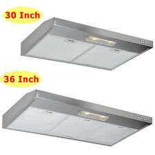 30' 36' Under Cabinet Stainless Steel Range Hood Top Rear Vent Double Motor