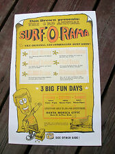 Vintage Surfer movie surf poster surfboard Don Brown longboard surf o rama 1963
