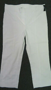 Hose Schlupfhose 3/4 Capri Damen 42 M.K. Fashion for Life Weiss Superstretch