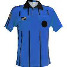 Official Sports USSF Pro Raglan SS Stripe Soccer Referee Shirt,Blue,XL   (10B03)