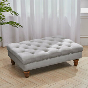 Large Chesterfield Footstool Pouffe Coffee Table Ottoman Window Seat Bench Stool