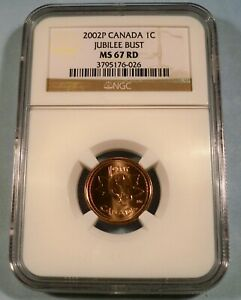 2002-P 1c CANADA NGC MS 67 RD CENT 1952-2002 JUBILEE BUST MS 67 RED