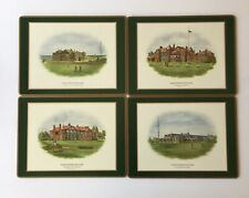 VINTAGE PIMPERNEL BOXED SET OF 4 PLACEMATS - 4 DIFF FAMOUS BRITISH GOLF CLUBS