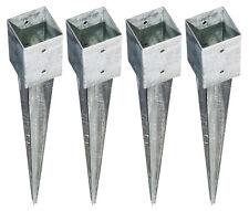 4x Bodenhülse Einschlagbodenhülse 7x7 cm Einschlaghülse Pfostenträger verzinkt