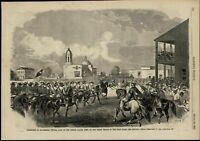 General Twiggs Surrender Texas Troops Soldiers 1861 great old print for display