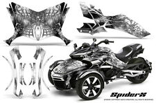 CAN-AM BRP SPYDER F3 GRAPHICS KIT CREATORX DECALS SPIDERX WHITE