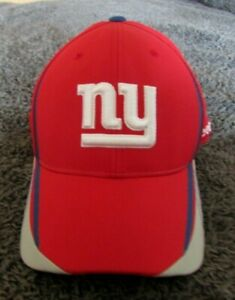 New York Giants Reebok NFL Equipment Fitted Red Baseball Hat Cap- Size Large/ XL