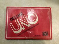 Vintage Uno Deluxe Edition Card Game 100% Complete Instructions Score Pad 1978