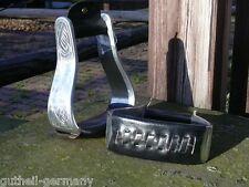 Western Steigbügel / Stirrups Typ Oxbow Metall / Leder schwarz