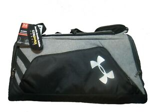 Under Armour CONTAIN DUO DUFFEL BACKPACK BAG CORDURA LARGE 1277431 NWT BLK GRY.