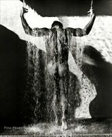 1988 Vintage HERB RITTS Male Nude Butt Muscle Waterfall Duotone Photo Art 11x14