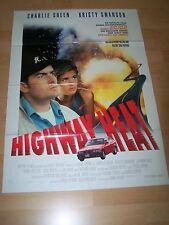HIGHWAY HEAT - Kinoplakat A1 ´94 - CHARLIE SHEEN Kristy Swanson