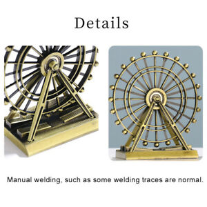 US_ FT- Retro The London Eye Creative Metal Ferris Wheel Ornament Home Desk Deco