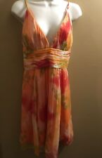 NWT Laundry by Shelli Segal 100% Silk Halter ~Beautiful~ Dress Size 8