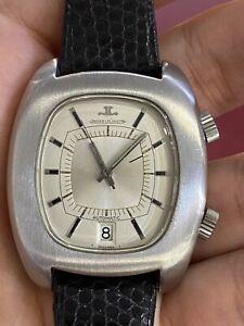 Vintage Men's Jaeger-LeCoultre Memovox Automatic Date & Alarm S/Steel 1970s