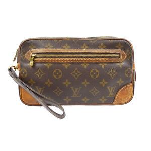 LOUIS VUITTON MARLY DRAGONNE CLUCTH HAND BAG PURSE MONOGRAM M51825 882TH 41587