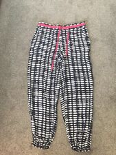 Armani Casual Harem Style Trousers Navy White Pink Belt Size 8 10 Worn Once