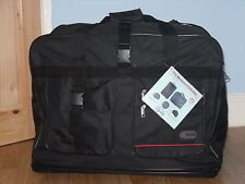 "Super Lightweight X-Large 40"" Expanding Zipper Luggage Bag With 6 Bottom Wheels."