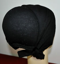 New Cotton Under Scarf Hijab Bonnet Cap Hump&Bun Style Black with Attached lace