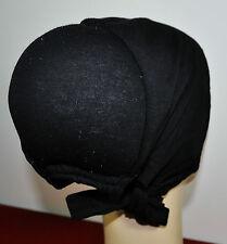 New Cotton Under Scarf Hijab Bonnet Cap Hump&Bun Style Black with Attached lace