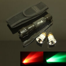 UltraFire 501B CREE Red Light and Green Light Bulb LED Flashlight Torch Holster