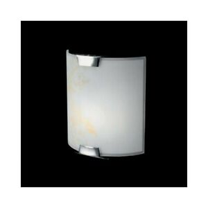 Wall Light Lamp Square White Glass And Amber Decorated Modern Design