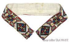ANTIQUE East European ethnic embroidery belt peasant art silk Greek Balkan old