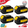 4XFor DeWalt 20V 20 Volt Max XR 4.0AH Lithium Ion Battery Pack DCB204-2 DCB206-2