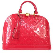 AUTHENTIC LOUIS VUITTON VERNIS ALMA MM HAND BAG ROSE INDIEN M90098 PATENT A40257