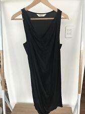 Portmans Black Silk Dress With Belt. Size 10