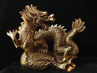 decor Feng shui Brass guardian Money bag Wealth Zodiac Year Dragon Statue loong