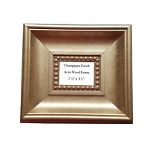 """2 1/2"""" x 3 1/2"""" Aceo Large Champagne Finish Wood Frame"""